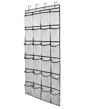 Brotrade Oxford Over the Door Shoe Racks and Organizers 24 Large Mesh Pockets,Heavy Duty Door Shoe Rack with 4 Steel Door Hooks