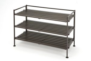 Seville Classics 3-Tier Resin Slat Utility Shoe Racks and Organizers