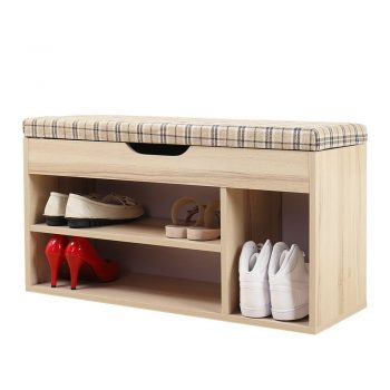 Soges Storage Bench Storage Hall Shoe Racks and Organizers White